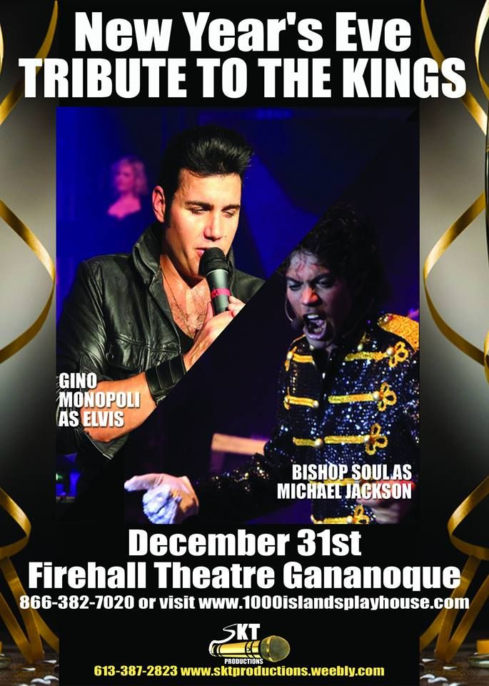 You have found your New Year's Eve plans! #1000islands #newyears #2015 #gananoque #elvis #michaeljackson #tribute #nighttoremember