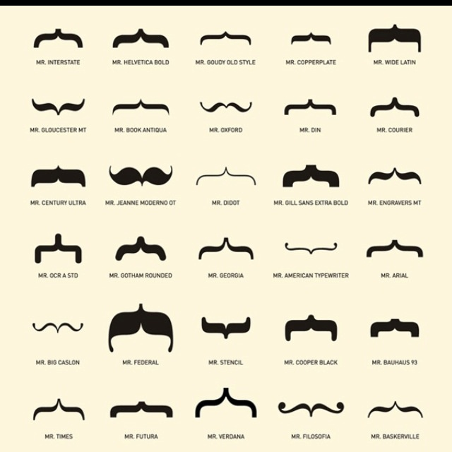 Oh the many different types of mustaches