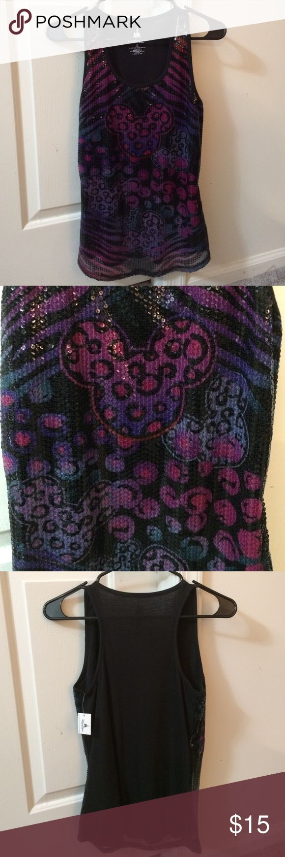 Official Disney Sequin Tank Top Official Disney tank top from Disney World. NWT. Sequin with Mickey designs. Disney Tops Tank Tops