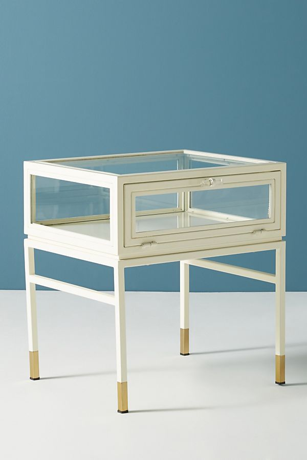 Tannehill Display Side Table For Living Room And To Encase Succulent Garden Perfect