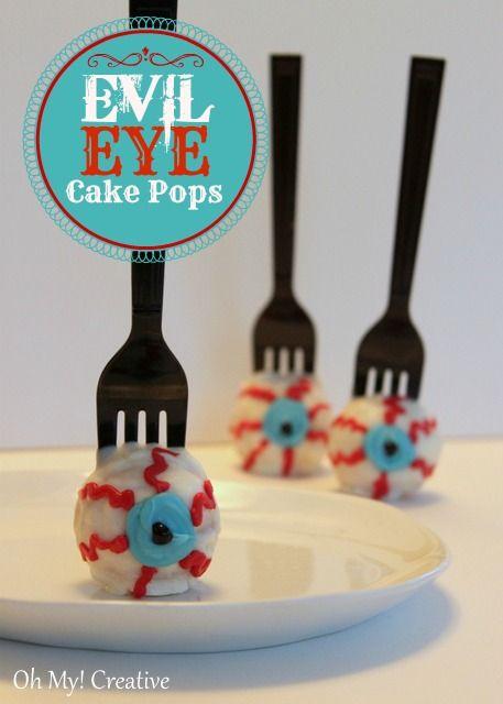 evil eye cake pops