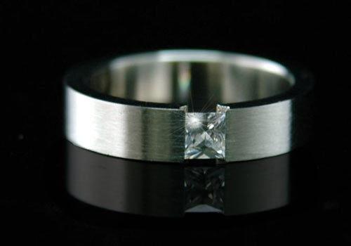 Stylish Cubic Zirconia Stud Wedding Band Ring R011 | eBay