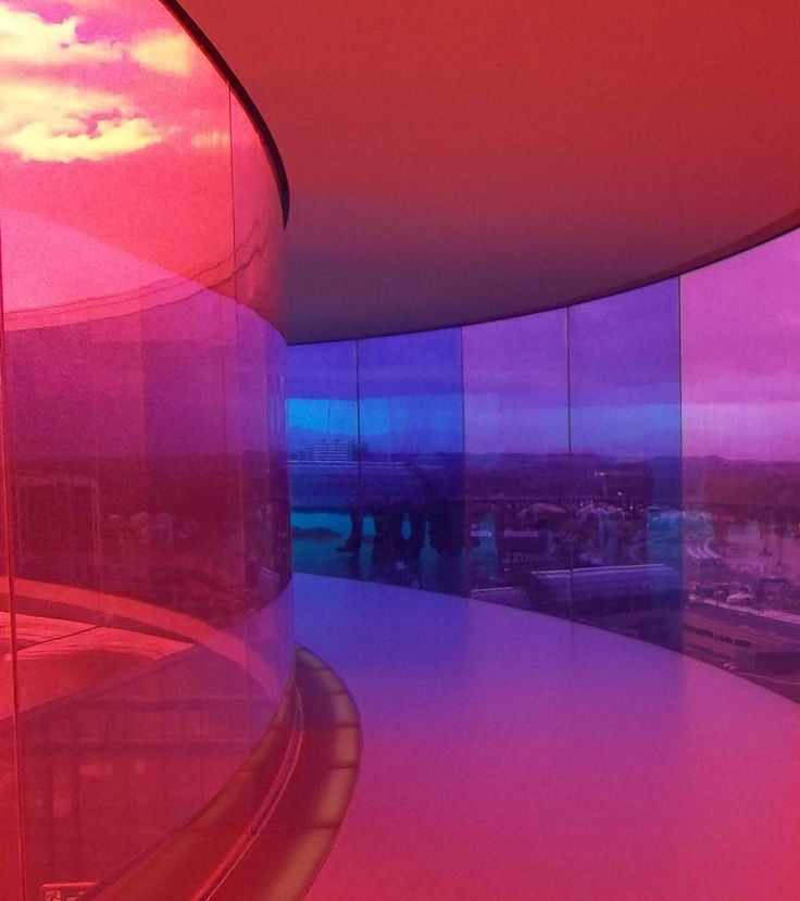 Saturday15th February 2014 at ARoS Museum of Art, Aarhus, Denmark. Snapshot inside the Rainbow.