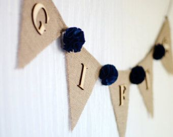 25 pinterest burlap wedding gifts banner dark navy blue fabric flowers wedding gift table sign negle Image collections