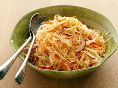 Coleslaw with Cumin-Lime Vinaigrette Recipe | Bobby Flay | Food Network