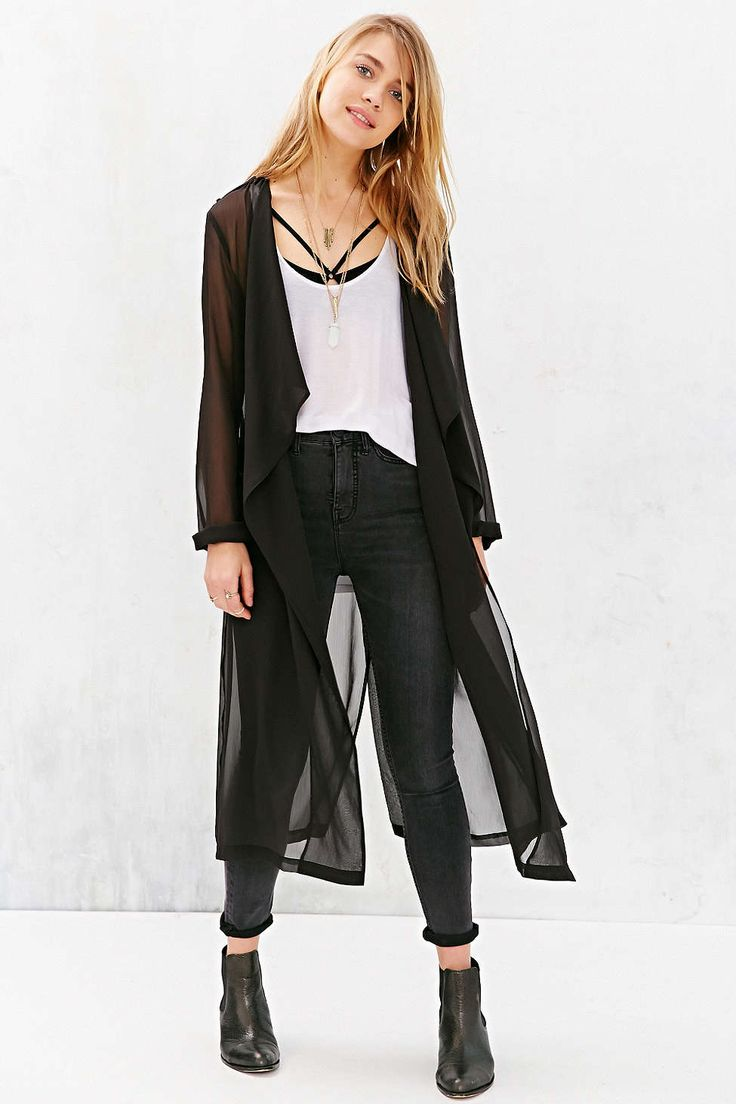 Silence + Noise Sheer Trench Coat - Urban Outfitters