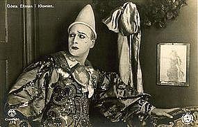 Gosta Ekman KLOVNEN RPPC Postcard | Danish 1926