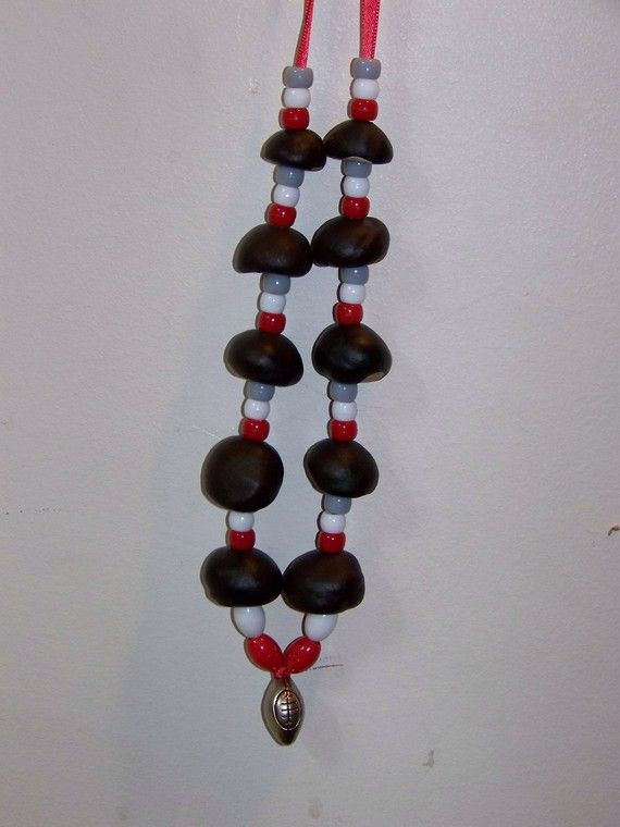 Buckeye Necklace by theartmajorcrafts on Etsy