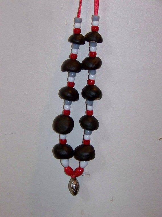 Buckeye Necklace by theartmajorcrafts on Etsy