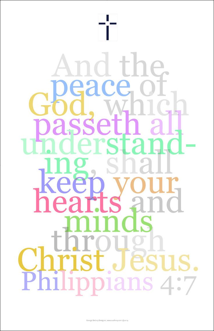 Bible art poster 21 philippians 4 7 and the peace of god