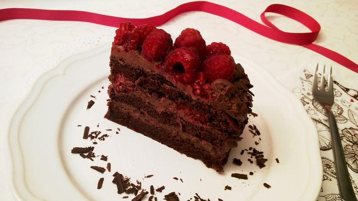 Málnás csokoládétorta - Chocolate raspberry cake