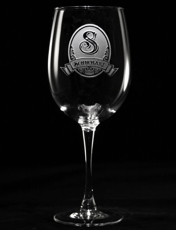 Marvelous Monogrammed Engraved Personalized Wine Glass Gifts