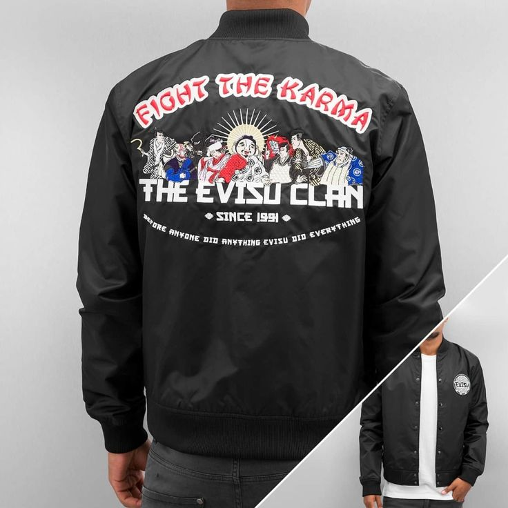 #EVISU Männer Übergangsjacke Fight The Karma, 4894565003455