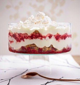 Das Rezept für Cantuccini-Trifle mit Himbeeren und weitere kostenlose Rezepte auf LECKER.de
