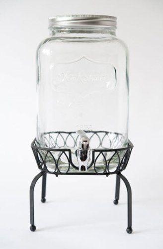 Yorkshire 2 Gallon Glass Mason Jar Beverage Dispenser with Metal Stand - Barn Weddings! Yorkshire http://www.amazon.com/dp/B00HX8QGIM/ref=cm_sw_r_pi_dp_8GvXwb05J5ATR
