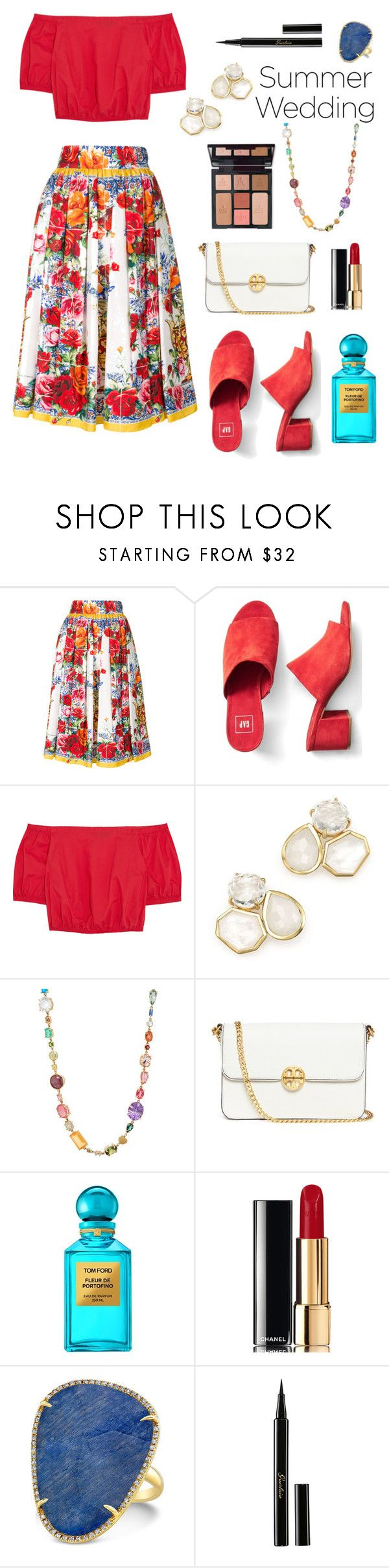 """Portofino"" by ravenclaw-phoenix on Polyvore featuring Dolce&Gabbana, Gap, Madewell, Ippolita, Sharon Khazzam, Tory Burch, Tom Ford, Chanel, Charlotte Tilbury and Guerlain"