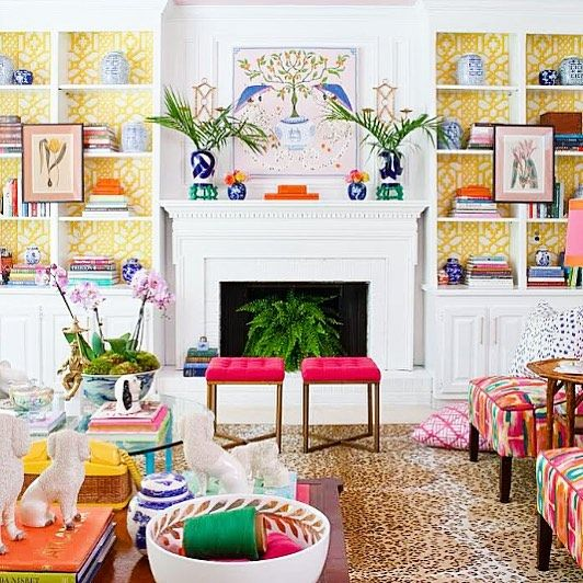 ...don't mind me I'm just drooling into my coffee over this amazing living room makeover by @paigeminear ...heart palpitations over your colorful eclectic palm beach style sweet friend...bravo! Head to her account for all of the #oneroomchallenge details! Xo by styleyoursenses