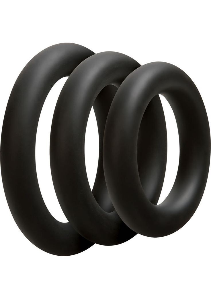 Buy Optimale 3 Silicone C-ring Set Thick Black online cheap. SALE! $18.99