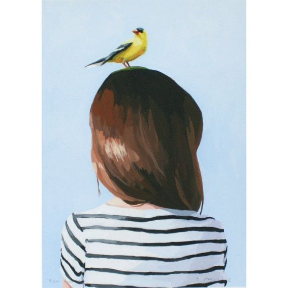 Bird head print