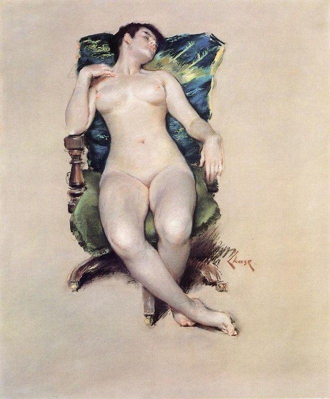 Nude Resting, William Merritt Chase.