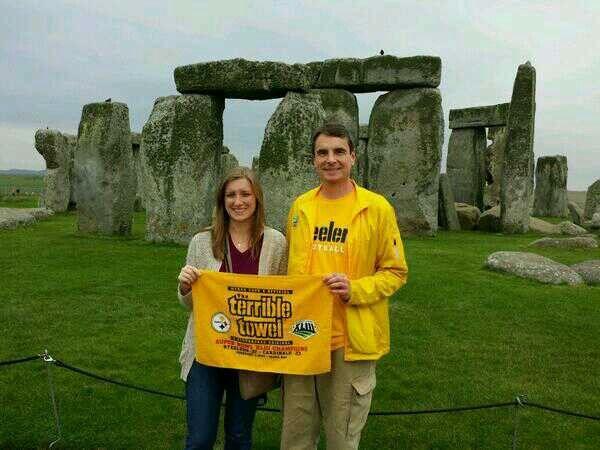 The terrible towel @ Stonehenge