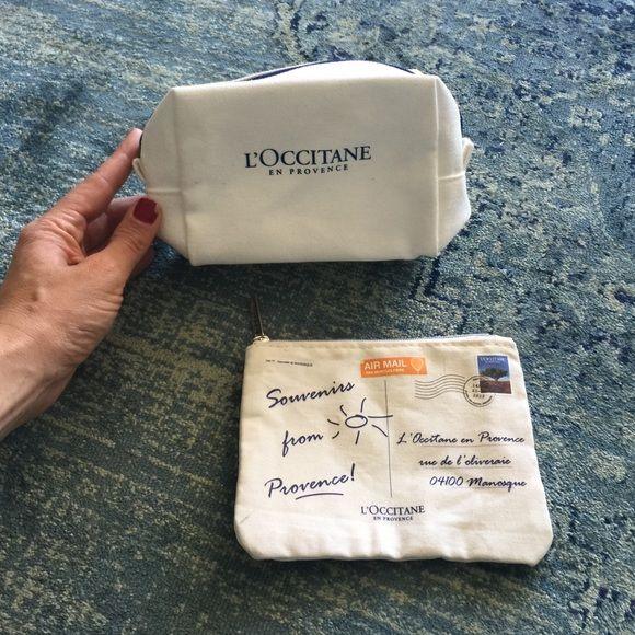 2 L'occitane travel pouches New travel pouches! L'occitaine Bags