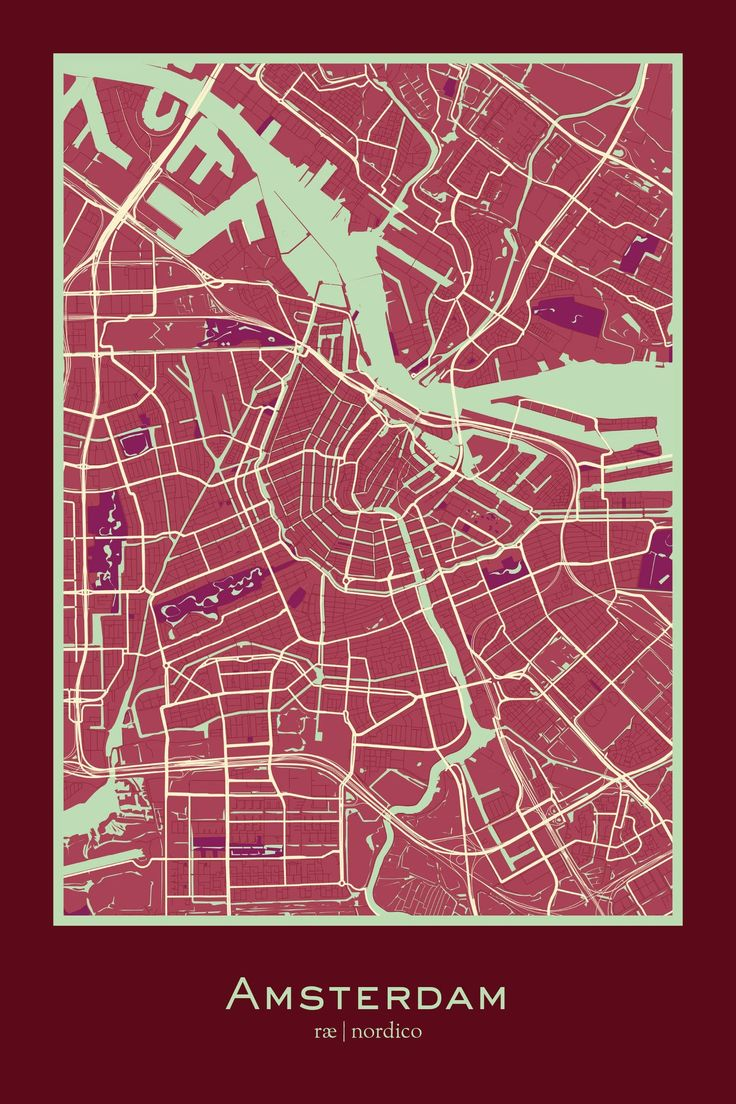 Amsterdam, Netherlands Map Print