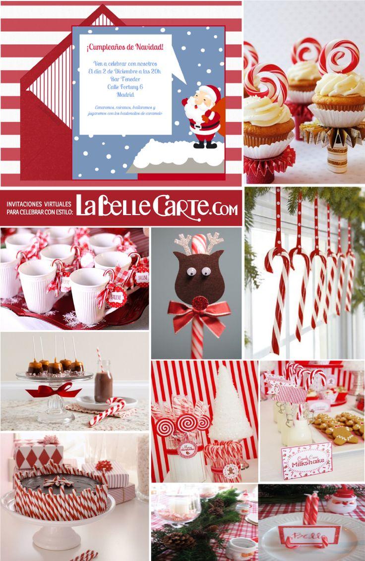 Tarjetas de navidad tarjeta de navidad cumplea os de - Caramelos de navidad ...