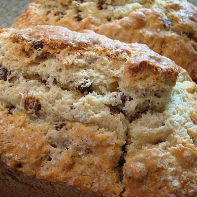 Sweet Irish Soda Bread Recipe, perfect for Saint Patrick's Day. Two tender loaves of slightly sweet bread speckled with raisins and caraway. Soda bread