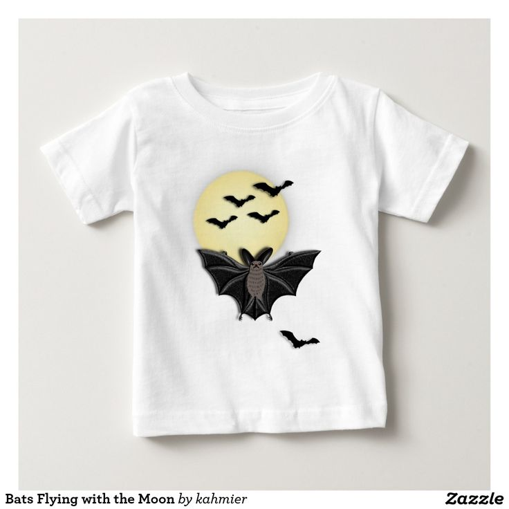 Bats Flying with the Moon Infant T-shirt