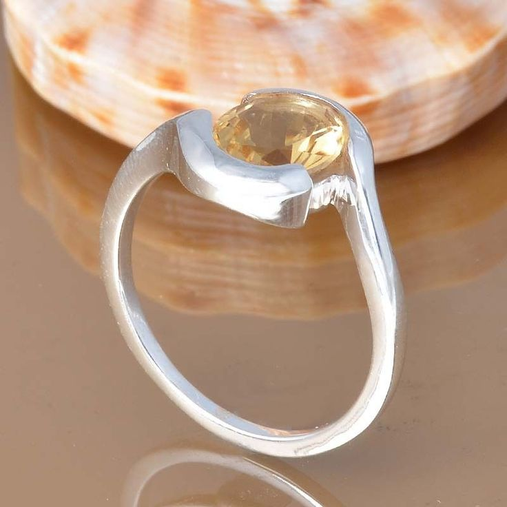CITRINE 925 SOLID STERLING SILVER EXCLUSIVE RING 3.95g DJR7436 #Handmade #Ring