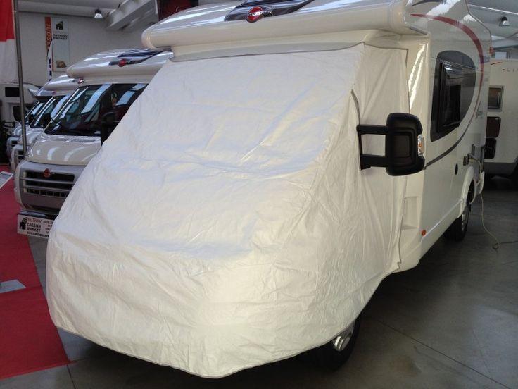 Accessorio camper copertura completa cabina, leggera, impermeabile e traspirante, di colore bianco per non attirare i raggi del sole:il massimo per la protezione ESTIVA