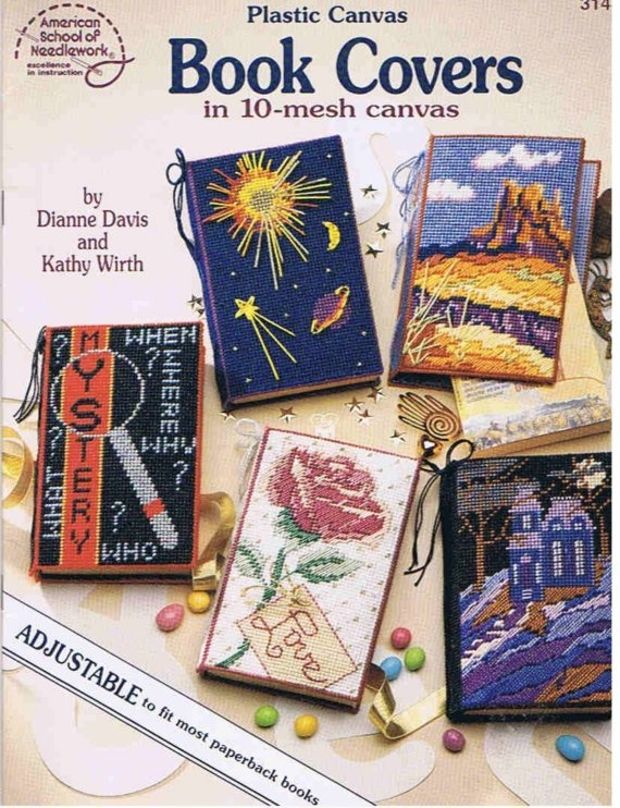Book Cover Pattern Photo ~ Plastic canvas paperback book covers pattern
