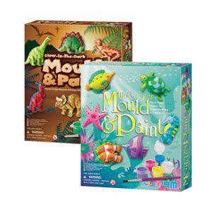 Mould & Paint Kits Dinasaur, Underwater, Glitter Fairies NIAMH/OLIVIA/TOBY $22.95