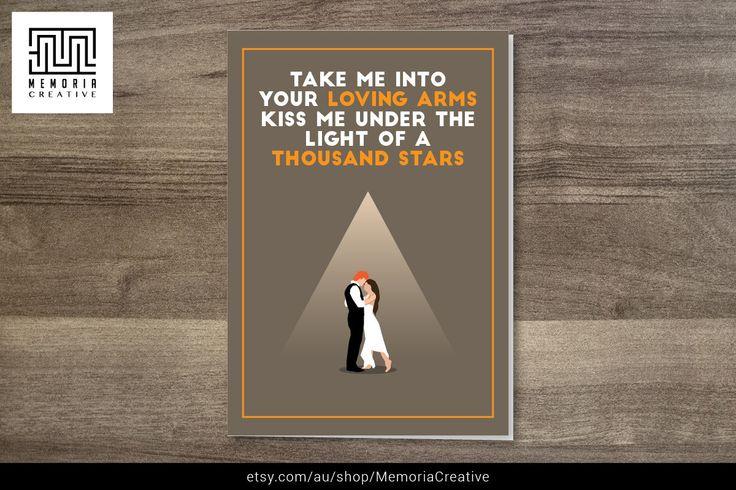 #edsheeran #card #iloveyou #funnycard #cutecard  https://www.etsy.com/au/listing/214108892/ed-sheeran-thinking-out-loud-card-i-love?ref=shop_home_active_6