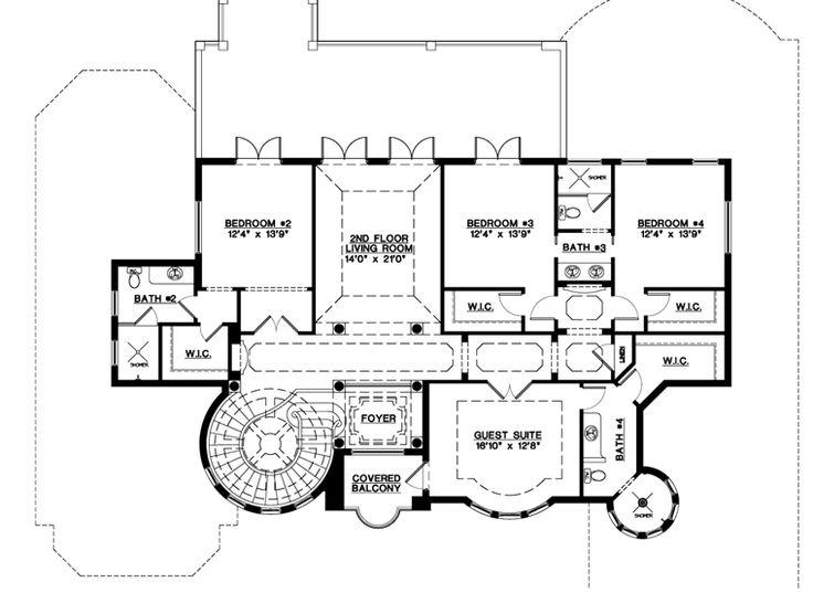 Coastal contemporary florida mediterranean house plan for Florida mediterranean house plans