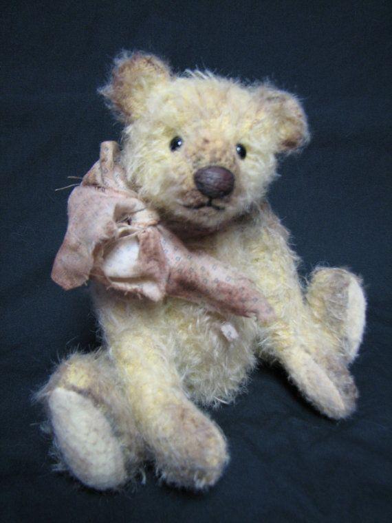 SALE   Mohair Vintage Style Artist bear By Melanie Clark