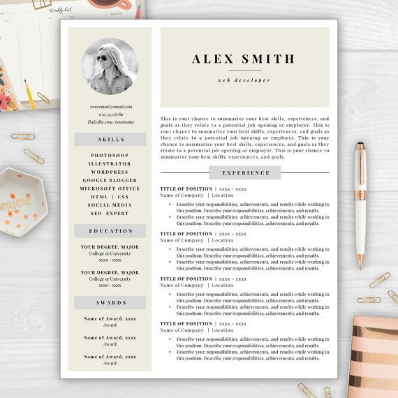 9 Best Monogram Resume Templates Images On Pinterest | Cover