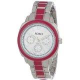 XOXO Women's XO111 Silver Dial Silver-tone and Pink Enamel Bracelet Watch (Watch)By XOXO