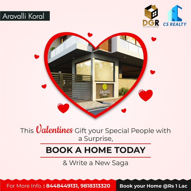 Celebrate the day of #love at your new address.  – Aravalli Koral