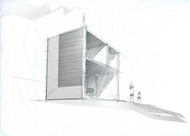 Hotel Kirkenes / Sami Rintala simple sketch drawing