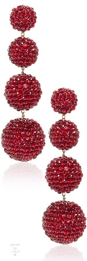 Rebecca De Ravenel M'O Exclusive Les Bonbons Ruby Slippers Earrings | LOLO❤︎