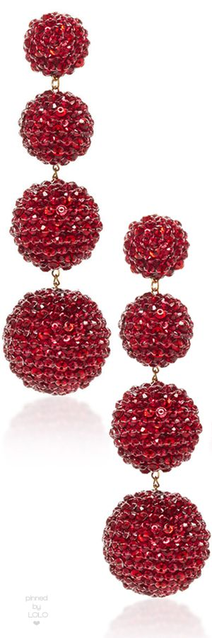 Rebecca De Ravenel M'O Exclusive Les Bonbons Ruby Slippers Earrings | LOLO❤︎