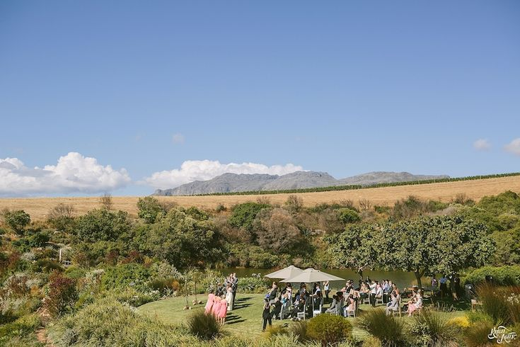 Lawn wedding at Hidden Valley
