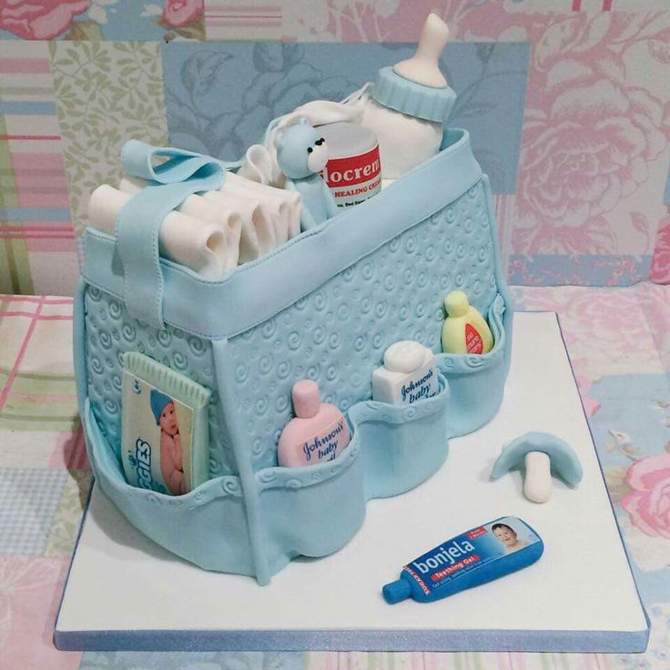Blue baby change bag for aan baby shower                                                                                                                                                                                 More