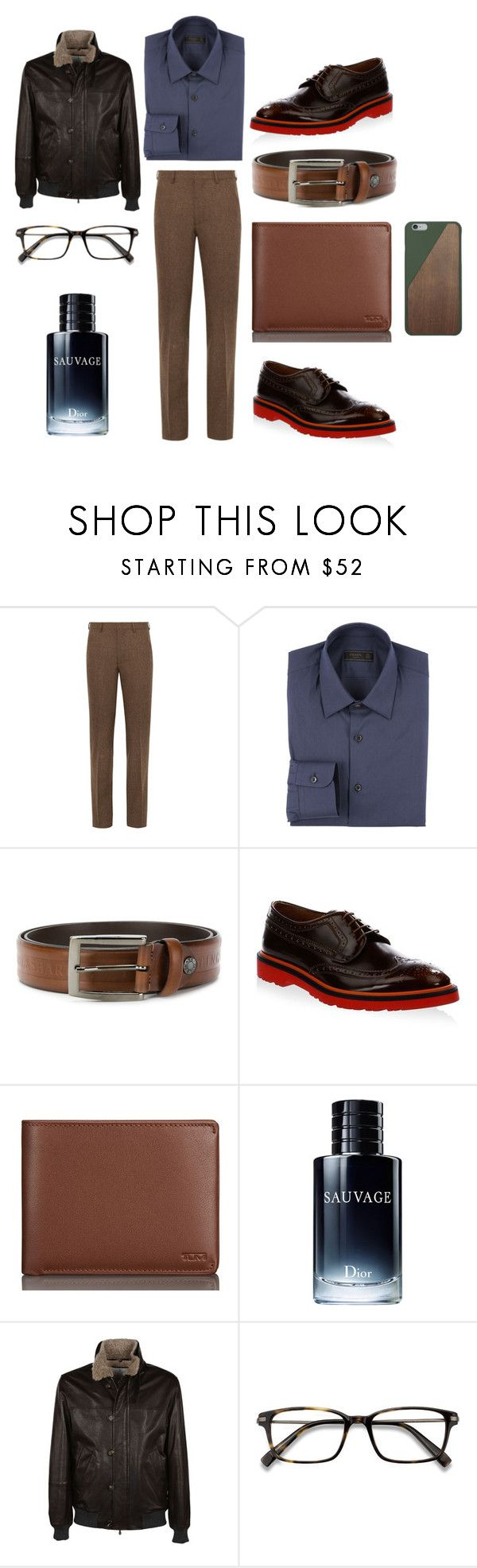 """Untitled #2933"" by moestesoh ❤ liked on Polyvore featuring Prada, Paul & Shark, Paul Smith, Tumi, Christian Dior, Brunello Cucinelli, EyeBuyDirect.com and Native Union"
