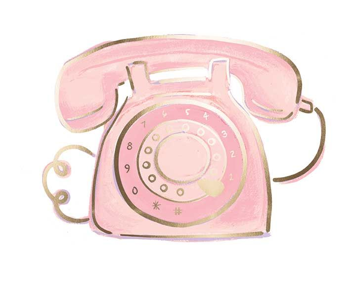 Grunge Devices s, pink push-button telephone illustration transparent  background PNG clipart   HiClipart