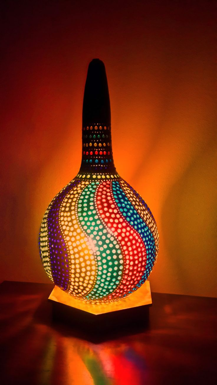 FREE SHIPPING Authentic Gourd Lamp All Handcrafted Kalabasse Lamp Lampe De Zucca by GourdLampCollection on Etsy