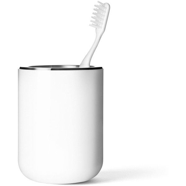 Menu Toothbrush holder (295 DKK) ❤ liked on Polyvore featuring home, bed & bath, bath, bath accessories, toothbrush stand, tooth-brush holder, stainless steel bathroom accessories, stainless steel toothbrush holder and toothbrush holder