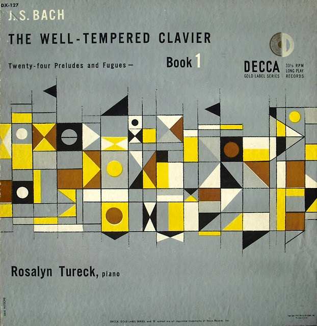 Mid-Century Album Cover - J.S. Bach The Well-Tempered Clavier